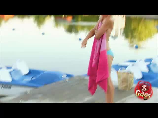 Lost Bikini Top Prank